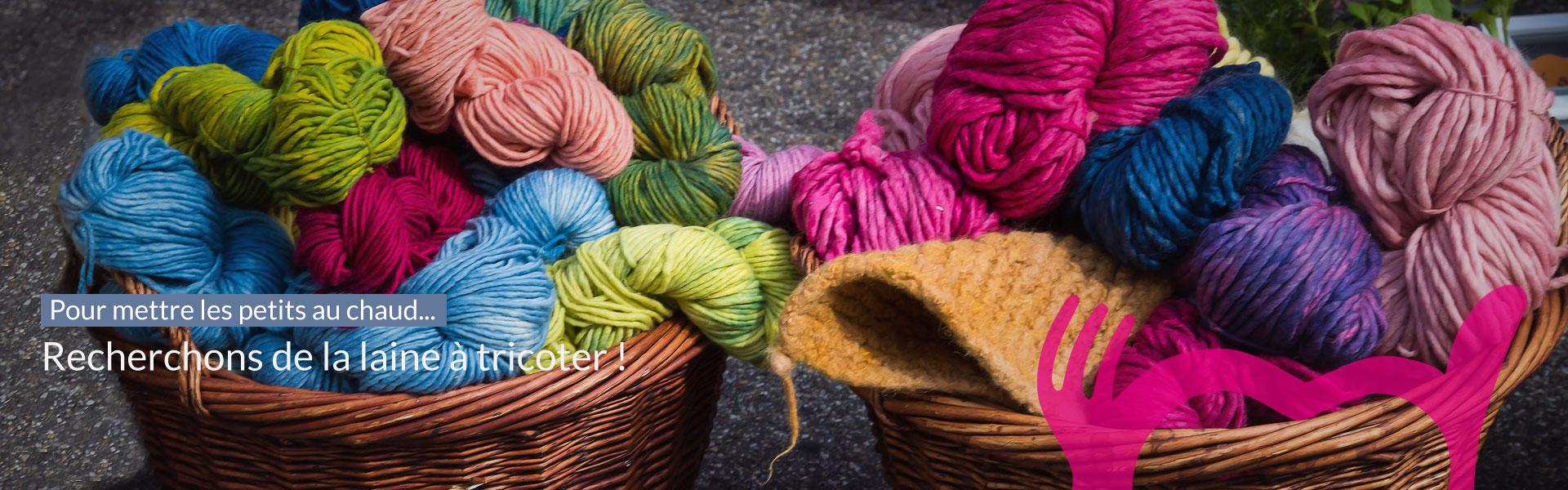 Recherchons de la laine à tricoter ! Cliquez pour envoyer un mail (contact@restosducoeur44.org)...